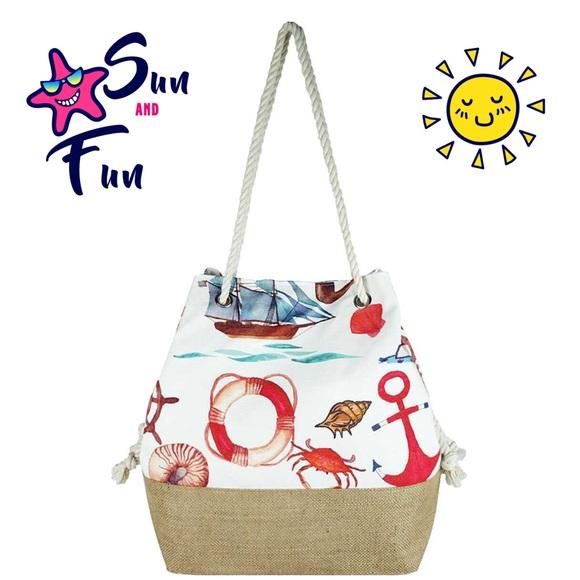 Handbags - Fashion Sea Life Print Bag / Tote